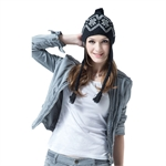 Veni Masee® Women Winter Keep Warm Snow Printing Soft Hats Ladies Caps