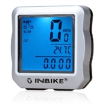 INBIKE 15 Function Bicycle Bike Cycle Computer Speedometer Speedo, 2 Colors To Choose (Price/Piece)
