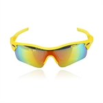 H:oter® Collecton Vogue 5 Lens Combo Cycling Bike Sports Color Sun Glasses, 4 Colors 4 Choose