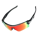 H:oter® Polarized UV Protection Sports Glasses For Men Or Women, With 5 Interchangeable Lenses Unbreakable, For Riding Driving And All Outdoor Activities