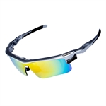 H:oter® Anti Glare Multi Sport Outdoor Running Cycling UV400 Polarized Sunglasses Goggle Changeable 5 Lenses Glasses