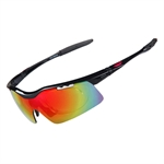 H:oter® UV400 Classic Polarized Sunglasses for Running, Cycling, Fishing, Golf, With 5 Interchangeable Lenses