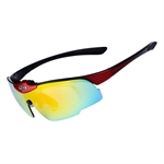H:oter® Unbreakable Polarised Fishing, Cycling, Running, Outdoor Sports Sunglasses With 5 Interchangeable Lenses