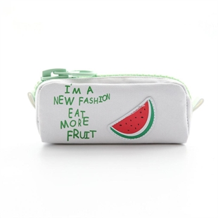 Creative Fruit High-capacity Multifunctional Pen Bag Student Colorful Big Zipper Pencil Holder