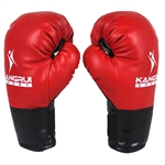 KANGRUI Red PU Leather Boxing Gloves For Child, 6oz