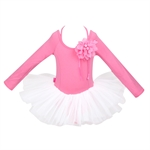 Hoter® Size 4-8 Girls Hotpink & White Ballet Tutu Dress With Corsage, Price/Piece