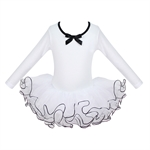 Hoter® Snow White Long-sleeved Ballet Tutu Dress For Size 4-8, Price/Piece