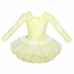 Gift Idea! Hoter® Lace Covered Yellow Ballet Tutu Dress, Size 3-10,  Price/Piece