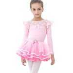 Gift Idea! VENI MASEE PPrincess Design Long-sleeved TWO Piece Ballet Tutu Dress, Size 4-8, Price/Piece