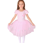 Gift Idea! Size 4-8 Girls Short Sleeved Ballet Tutu Dress(Purple/Pink), Price/Piece