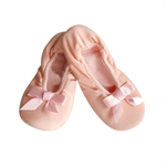 Gift Idea! Hoter® Girls Gymnastic/Ballet Pure BabyPink Soft Canvas Dance Shoes, Price/Pair