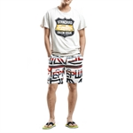 H:oter SunnyBoy Men's Summer  Corton Fashion Flour Printing Leisure Board Swim Beach Shorts