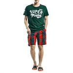 H:oter SunnyBoy Men's Summer Corton Grid Leisure Board Swim Beach Shorts