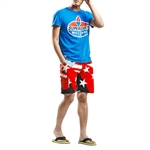H:oter SunnyBoy Men's Summer Leisure Star Printing Quick Drying Swim Beach Shorts