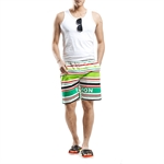 H:oter SunnyBoy Men's Fashion Summer Stripe Printing Swim Beach Shorts