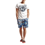 H:oter SunnyBoy Men's Fashion Summer Render Printing Swim Beach Shorts