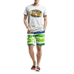 H:oter SunnyBoy Men's Corton Leisure Render Printing Quick Drying Swim Beach Shorts