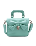 Women & Girls Elegance PU Faux Leather Tote Handbag Shoulder Handbag Purse Bag Features Bowknot, Gift Ideas