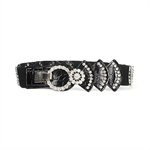 H:oter® Women's Fashion Waist Wide Elastic Gorgeous Fashion Belt Features Diamond Detail