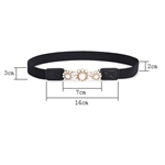 H:oter® Lady Waist Wide Elastic Gorgeous Fashion Dress Belt Features Preal Detail