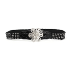 H:oter® Women's Fashion Waist Elastic Gorgeous Fashion Elastic Belt Features Diamond Detail