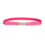 H:oter® Lady Waist Elastic Fashion Fluorescence Color Belt Features Diamond Detail