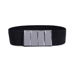 H:oter® Women's Waist Wide Elastic Gorgeous Fashion Belt Features Diamond Detail