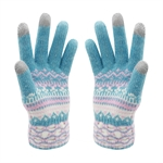 VENI MASEE® Christmas Warm Gift! Women Stripe Print Wool Touch Screen Gloves, 4 Colors