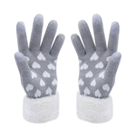 VENI MASEE® Christmas Warm Gift! Women Lovely  Love Heart Wool Touch Screen Gloves