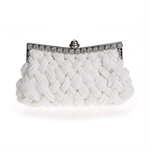 VENI MASEE Knit-Style Prom & Party Evening Handbag With Crystals, Clutch Bag, Gift Ideas--Colors Various, Price/Piece