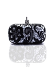 VENI MASEE Stylish Indian Design Lace Prom & Party Evening Handbag, Clutch Bag,Hard box bag, Gift Ideas--Colors Various, Price/Piece