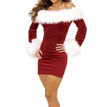 Women's Santa Claus Costume Women Santa Suit Fancy Dress Costume