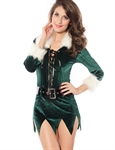 VENI MASEE Women's Sexy Secret Santa Costume/Mrs Miss Christmas Santa Fancy Dress Costume Outfit