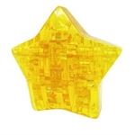 3D Jigsaw Puzzle, Cube Crystal Puzzle - Star, 3 Colors, Gift Ideas