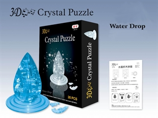3D Jigsaw Puzzle, Cube Crystal Puzzle - Water Drop, 2 Colors, Gift Ideas