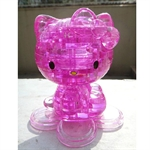 3D Jigsaw Puzzle, Cube Crystal Puzzle - Lovely Kitty Cat, 2 Colors, Gift Ideas