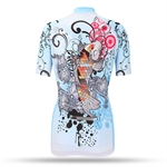 VENI MASEE Women Cycling Jersey Short Sleeve Breathable Fabric Shirts 3D Padded Bike Pant Fashion Design S-3XL(Pack of 1 Set)