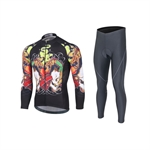 VENIMASEE Cycling Clothing Team Thermal Winter Fleece Jersey Set 3D Padded Bibshorts S-3XL