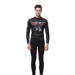 VENIMASEE Men's Cycling Clothing Set Fleece Thermal Winter Quick Dry Rose Pattern Long Sleeve Cycling Jersey +3D Padded Pants S-3XL