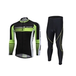VENIMASEE Winter Long Sleeve Cycling Jersey Set Winter Fleece Thermal Bicycle Clothing 3D Padded Pants S-3XL