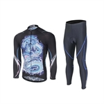 VENIMASEE Bicycle Jersey Set Padded Tight Pants Windproof Long Sleeve Winter Fleece Thermal S-3XL