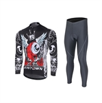 VENIMASEE Men Cycling Jersey Set Winter Fleece Thermal Bicycle Jacket Padded Biker Pants Bib Shorts S-3XL
