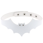 VENI MASEE New Arrival Vintage Punk Little Devil Bat Wings Leather Choker Necklace Collar Adjustable Multi-colored Street Dance/Night Club/Cosplay/Halloween/Ghost Festival/Chiristmas/Souvenir/Gift
