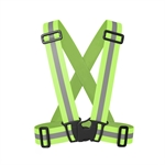 VENI MASEE Reflective Vest Elastic(1.57 inches/4 cm), Lightweight, Adjustable and High Visibility for Outside Sports Running, Cycling for Man&Women (3 color)