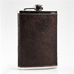 9oz Faux Leather and Stainless Steel Hip Flask, Funnel Set, Gift Idea