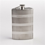 Ratent Stripe 7oz Stainless Steel Hip Flask, Funnel Set, Gift Idea