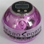 Resbo Sports Xpower Gyro, Wrist Exerciser Wrist Ball, With Shining Light And Speedmeter, Purple