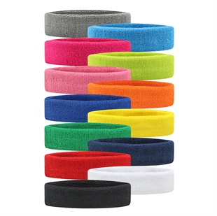 VENI MASEE Sportline Head Band, Terry Cloth Headband, Sweat Band, Sweatband, 10 Pieces For 1 Colors