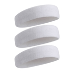 HOTER Sweatband Headband/ Wristband - 3PCS/ 6PCS Terry Cloth Athletic Sweatbands Fits to Men and Women