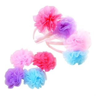 VENI MASEE® Hair Bow Girls Baby Hair Clips, Flowers Hairpins & Headbands, Gift Ideas, Set of 8